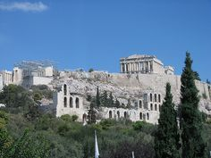 The Acropolis from below. It is such a beautiful spot! #greece #travel