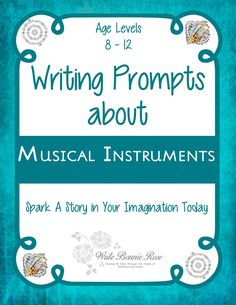 Writing Prompts About Musical Instruments: What would you do if you were a piano whose leg broke during a concert or a drum afraid of loud sounds?Writing Prompts About Musical Instruments is a fun series of ten writing prompts for ages 8-12. Spark a story in the imaginations of your children today! Themed notebooking pages are included for capturing the story. Twenty-three pages total. Limited time freebie.