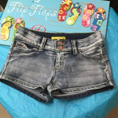 """Like new Jean Shorts size 9 Like new size 9 Jeans , """"Want a Better Butt"""" , fabric is cotton, polyester and  2% spandex YMI Shorts Jean Shorts"""