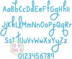 """I2S Ways to Say Goodbye Embroidery Font in sizes 0.5"""", 1"""", 1.5"""" & 2"""""""