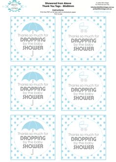 Free printable baby shower party tags via Kara's Party Ideas KarasPartyIdeas.com- #sprinklebabyshower