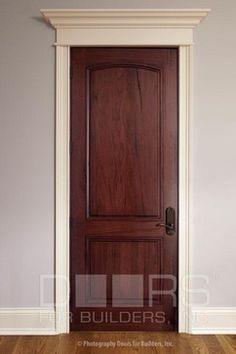 Knotty Alder Door Stain Color Hardware Trim Doors