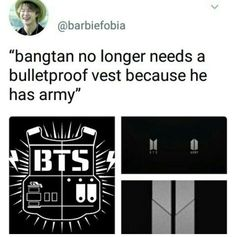 We gave bts the strength to take off the bulletproof vest cause we will always defend them