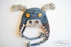 Crochet Moose Beanie – Free Crochet Hat Pattern for All Sizes - perfect for Halloween!