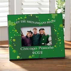 Personalized St Patrick's Day Picture Frames - Shenanigans - 9675