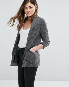 New Look – Melierter Jersey-Blazer
