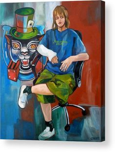 Portraits Acrylic Print featuring the painting Aaron And His Luck by Carmen Stanescu Kutzelnig Portrait Acrylic, Thing 1, Framed Prints, Canvas Prints, Acrylic Sheets, Got Print, Art Pages, Clear Acrylic, Fine Art America