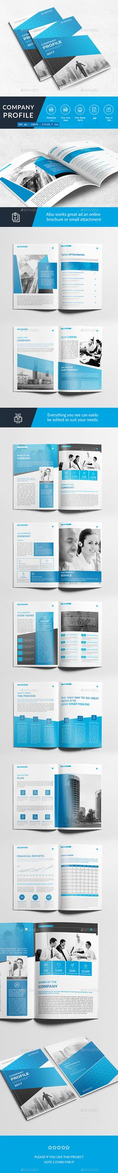 Company Profile #photoshop #psd #a4 #book • Download ➝ https://graphicriver.net/item/company-profile/18673081?ref=pxcr