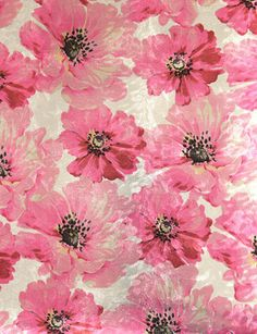 Holiday Gift Wrap Roll, Pink Poppy  $6.00  Bright pink poppies flourish in a bed of icy silver. Give life to your packages this holiday season and fill the space under the Christmas tree with a stunning garden. Continuous roll measures 28″ × 10.′