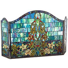 Stained Glass Fireplace Panel | Overstock™ Shopping - Great Deals on Decorative Screens