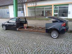Autoverlängerung. Mazda 323 - mal anders.