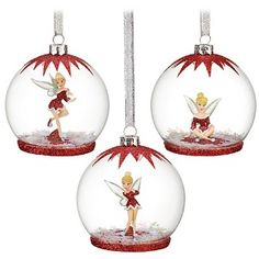 Tinker Bell Ornament Set -- 3-Pc. | Kaboodle...Tinkerbell Theme Tree