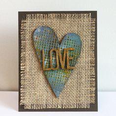 Adhesives, Burlap and Hearts-OH MY!