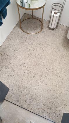 Polished Concrete Bathroom Floor Concrete Bathroom, Concrete Floors, Bathroom Flooring, Polished Concrete, Terrazzo, Montana, Toilet, Furniture, Home Decor
