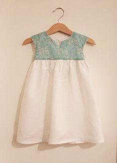 Liberty turquoise flowers dress