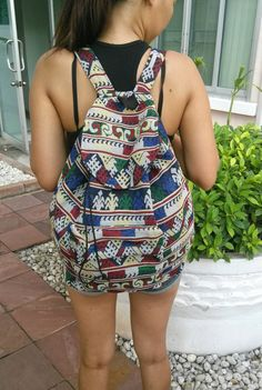 Hey, I found this really awesome Etsy listing at https://www.etsy.com/listing/205159574/big-tribal-backpack-unisex-boho-ikat