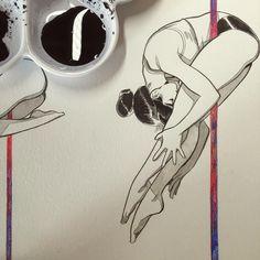 想做好耐嘅事,畫一本pole dance圖鑒,盡可能收錄所有pole dance嘅tricks/poses,可能要畫一千個,終於可以開始了,一個一個咁畫好開心,另外本漫畫短篇集亦同步進行中!  #littlethunder #thunderpoledancebible #poledancing #poledancetricks