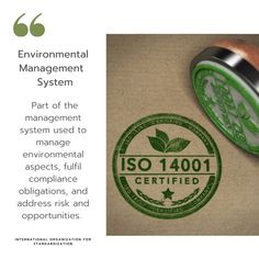 The ISO System for environmental management in the workplace. What Is Iso, Environmental Management System, Company Address, Workplace, Sustainability, How To Find Out, Things To Come, Website, Words