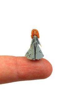 "Handmade Tiny Micro Miniature Dainty Lady Doll's Doll Artisan OOAK 3/4"""