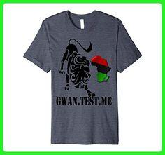 Mens AFRICAN LION CONTINENT BLACK POWER AND LOVE T SHIRT Medium Heather Blue - Animal shirts (*Amazon Partner-Link)