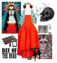 """day of the dead"" by sashasamoylenko ❤ liked on Polyvore featuring Calavera, Maticevski, Isabel Marant, L'Objet, Wet Seal, Friendly Hunting, Banana Republic, BHCosmetics, Pier 1 Imports and Yves Saint Laurent"