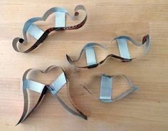how to make your own cookie cutters with soda can!  (these are mustache ones :)