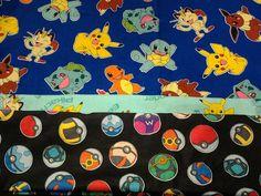 Pokemon, Custom Handmade, Washable, Pillowcase. Standard Size. Pikachu, Squirtle, Charmander. by MissAmandaMadeIt4Me on Etsy #etsy #handmade #pokemon #Pokeball #Pillow #case #cover #pillowcase #bedroomset #Pikachu #Squirtle #charmander #Bulbasaur