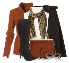 """""""Fall Skirt & Tall Boots"""" by brendariley-1 ❤ liked on Polyvore featuring Gucci, 1205, Etro, Joules, VC Signature and Ray-Ban"""