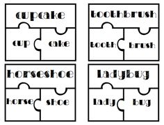 Compound Words Puzzle Task Cards 40 task card puzzles included. Print two copies.. One as a teaching tool as a task card or the other set to cut up as a center. Use these in a center with a pocket chart or put them on magnets and use them on a board. Follow me on TPT for more fun and exciting activities and FREEBIES!