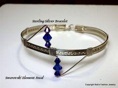 Swarovski Element Bracelet by BobsFashionJewelry on Etsy