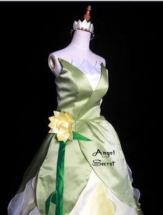 P123 COSPLAY Dress Princess and Frog Tiana Costume tailor made kid adult GOWN #NA #BallGown #Formal