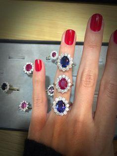 A little bit of gemstone magic.. #thediamondstoreuk #gemstone #sapphire #ruby #diamonds #ring #jewellery