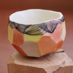 faceted pottery mug - Google Search
