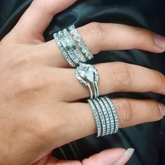 """Stackable """"Look of Real"""" rings"""