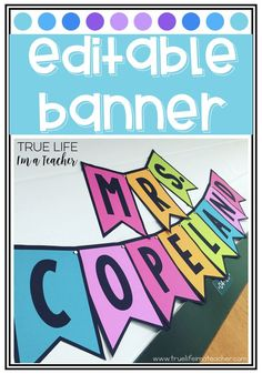 Template {ALL CAPS} Create a colorful banner for your classroom with ZERO colored ink!Create a colorful banner for your classroom with ZERO colored ink! Classroom Banner, Classroom Posters, Classroom Setup, Classroom Design, Classroom Displays, Kindergarten Classroom, Future Classroom, Chalkboard Classroom, Classroom Walls