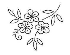 nouveau… – Broderie d'Antan - Autos Online Floral Embroidery Patterns, Bird Patterns, Hand Embroidery Designs, Ribbon Embroidery, Embroidery Stitches, Handkerchief Embroidery, Flower Designs, Sewing Crafts, Needlework