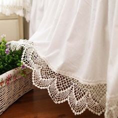 Share this page with others and get 10% off! White Cotton Lace Bedskirt