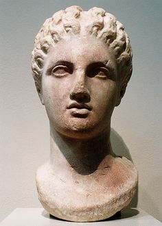 Marble head of a goddess  Period: Late Classical Date: 4th century B.C. Culture: Greek Medium: Marble
