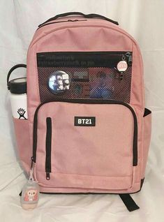 Mochila Kpop, Mochila Do Bts, Mochila Adidas, Cute Backpacks, School Backpacks, Bts Bag, Mochila Jansport, Army Room Decor, Aesthetic Backpack