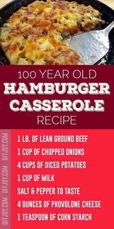 Hamburger Casserole Recipe - Easy Ground Beef Recipes - Inexpensive Meals to Make With Ground Burger Meat Casseroles Beef Casserole Recipes, Hamburger Casserole, Ground Beef Casserole, Hamburger Helper, Potato Casserole, Ground Beef Dishes, Ground Beef Recipes For Dinner, Dinner Recipes, Hamburger Dishes
