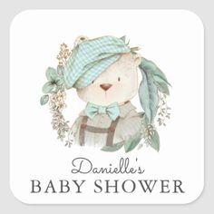 Teddy Bear Baby Shower, Baby Boy Shower, Newborn Christmas Photos, Baby Frame, Teddy Bear Toys, Bear Illustration, Baby Room Art, Baby Clip Art, Vintage Teddy Bears