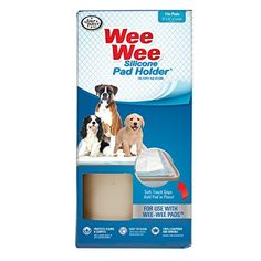 Four Paws WeeWee Silicone Dog Housebreaking Pad Holder by Four Paws -- Read more reviews of the product by visiting the link on the image.(This is an Amazon affiliate link and I receive a commission for the sales)