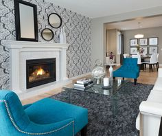 Wallpaper can be a good way to get the look of texture on your walls #morrisonhomes