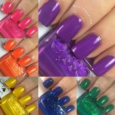 Essie Shimmer Brights Collage