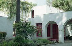 he Clark Estate-Front  Santa Fe Springs, California. Architect: Irving Gill, 1919.