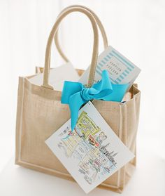 Such a cute destination wedding welcome bag for guests...