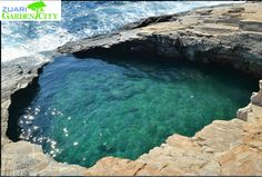 Giola Natural Pool: Located in Greece, height of the rocks is up to 8m from where the swimmers can dive into the clear waters.#Uniquepool http://www.deepbluediving.org/bog-snorkelling/
