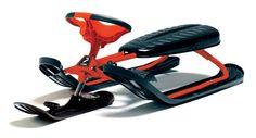 Nartosanki Stiga Snowracer Ultimate Pro red. Solidne nartosanki firmy Stiga, posiadają certyfikaty bezpieczeństwa CE, GS. #nartosanki #sportyzimowe