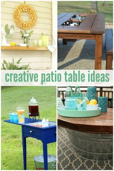 Creative Patio Table