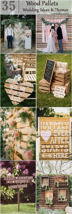 35 Eco-chic Ways To Use Rustic Wood Pallets In Your Wedding / http://www.deerpearlflowers.com/rustic-wood-pallets-in-your-wedding/